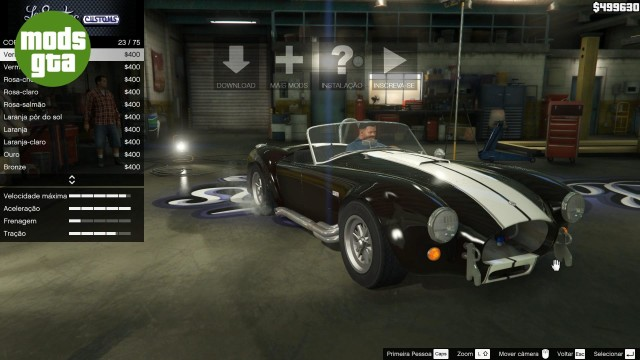 Mod do carro AC Cobra para GTA V 19
