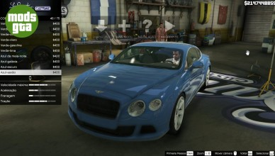 Mod Bentley Continental GT 2012 v.1.1 para GTA V de PC 36